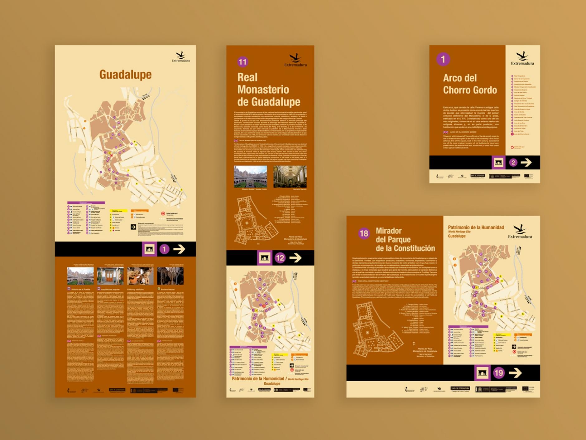 Señalización turística monumental de Guadalupe