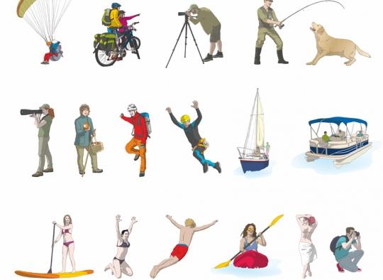 Recursos de ilustración - turismo