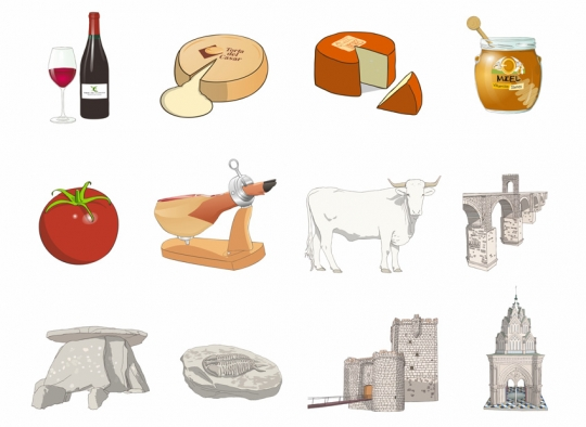 Recursos de ilustración - turismo gastronómico