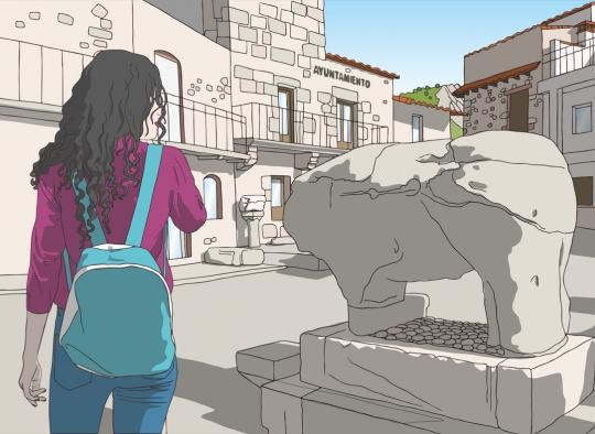 Ilustración para material turístico